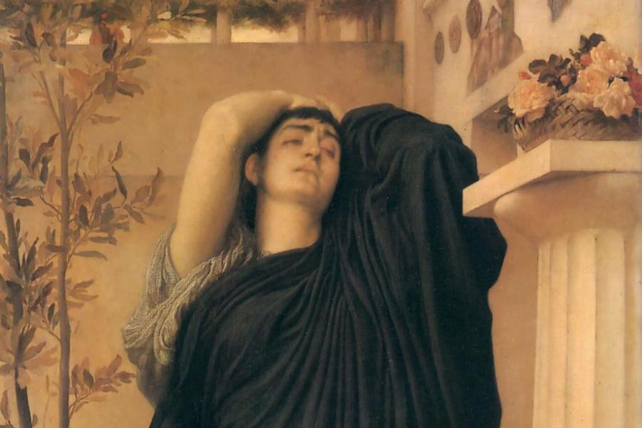 Electra at the Tomb of Agamemnon, Frederic Leighton, 1869